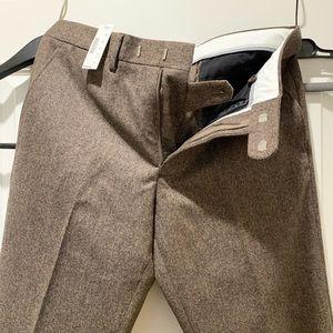 JCrew Bowery brown herringbone 31x32 slim pants